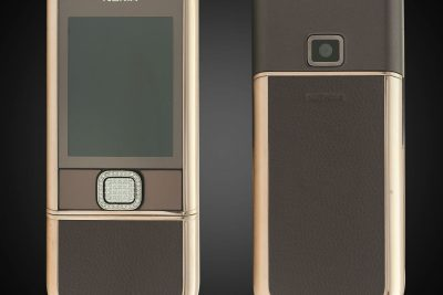 Nokia 8800E Rose Gold đính đá (da nâu)