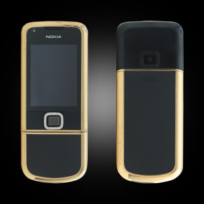 Nokia 8800E Rose Gold điểm đá (da đen)