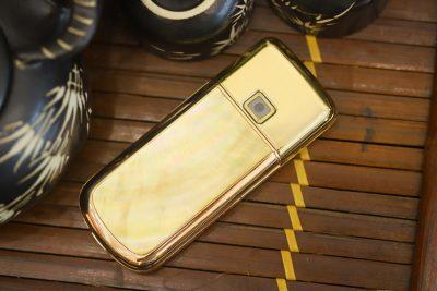 Nokia 8800E Rose Gold khảm trai đính đá